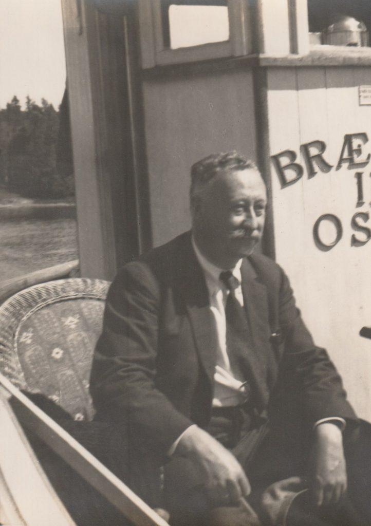 Heinrich Carl Hudtwalcker om bord på «Brækne-III»