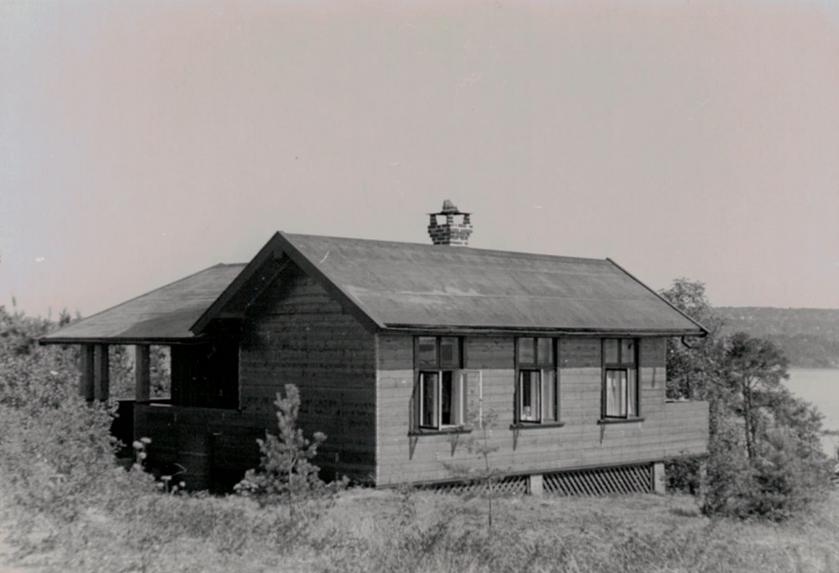 Huset på toppen etter reparasjonsarbeider i 1947
