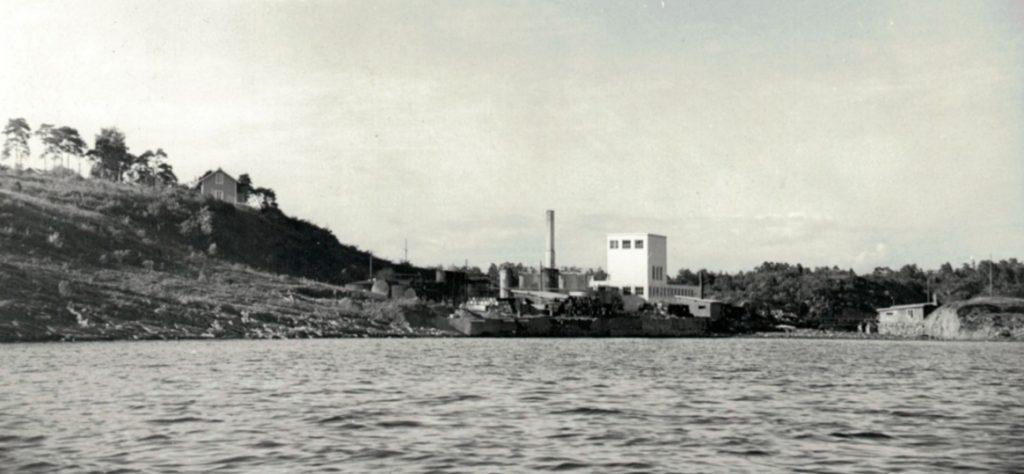 Den nye fabrikken. Oppført 1949/50